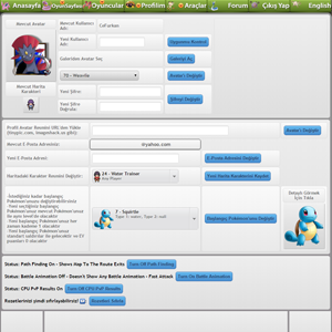 pokemon mmo rpg game PokemonPets control panel settings page hd gameplay screenshot
