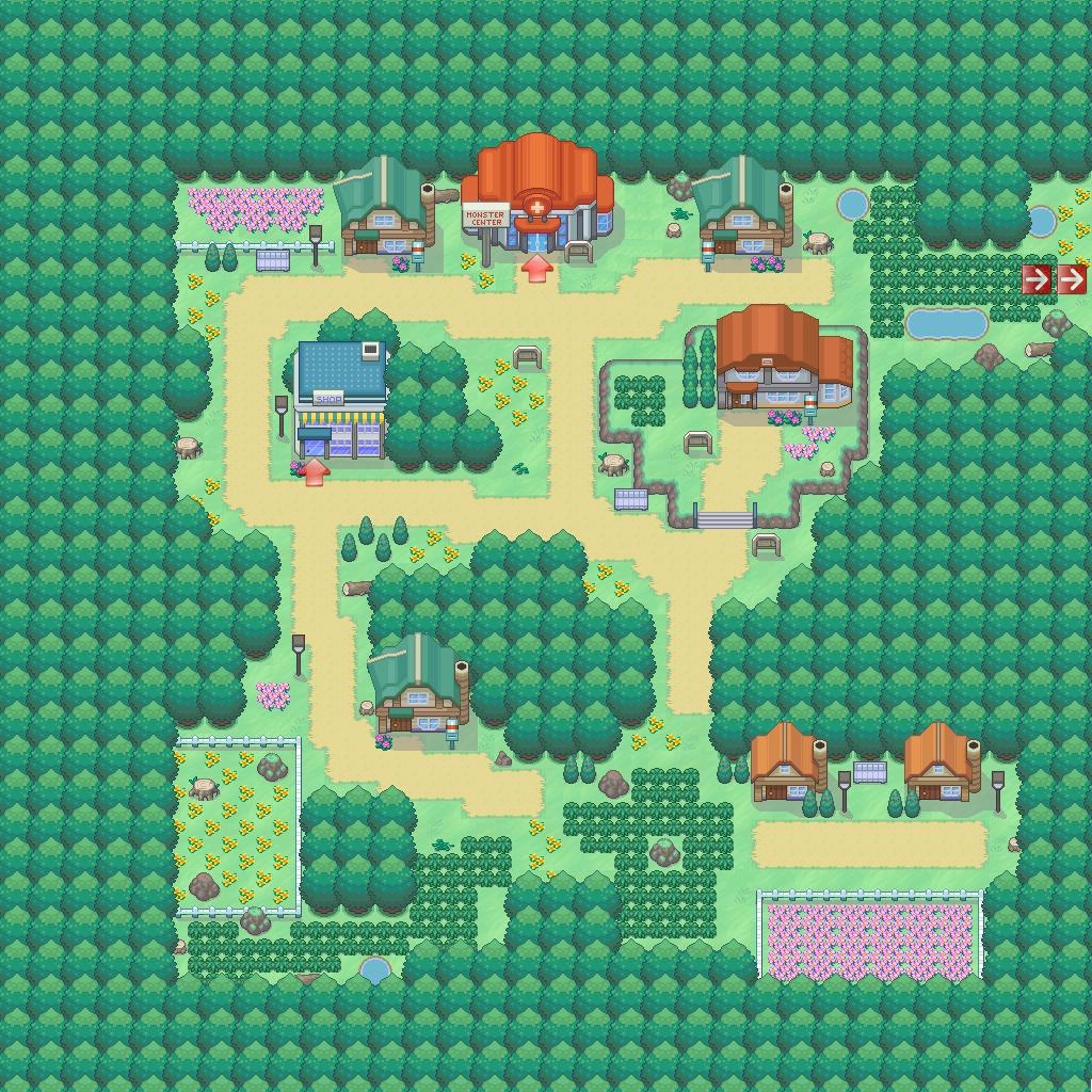 pokemon pets game map starfall town route id 1 zone normal pokemonpets free online pokmon mmo rpg browser game - Starfallcom Free