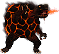 Monster Shiny-Mega-Golem-Fire