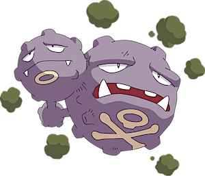 Weezing Pok 233 Dex Stats Moves Evolution Locations