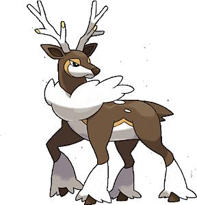 Sawsbuck Winter Pok 233 Dex Stats Moves Evolution