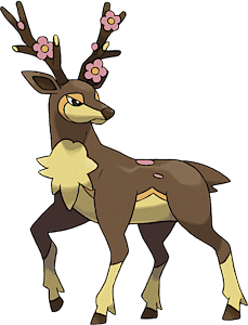 Pokemon sawsbuck coloring pages hot girls wallpaper for Deerling coloring pages