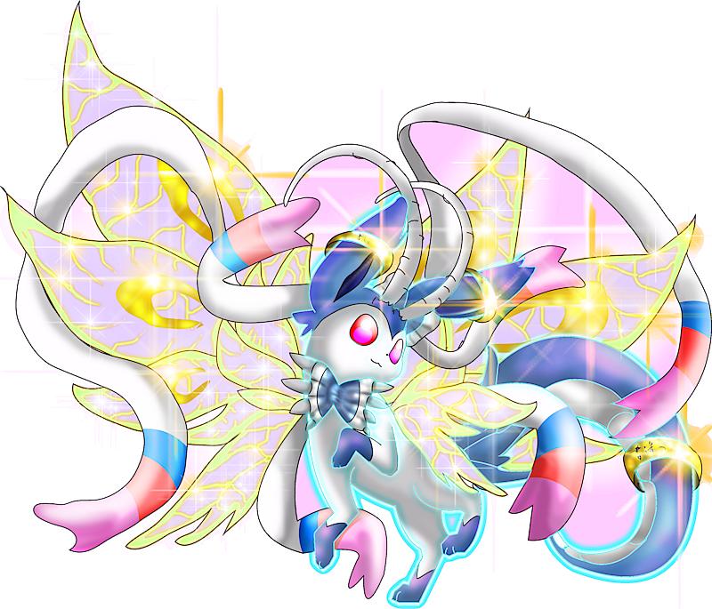 Pok 233 Mon 10698 Shiny Mega Sylveon Dragon Mega S Artwork