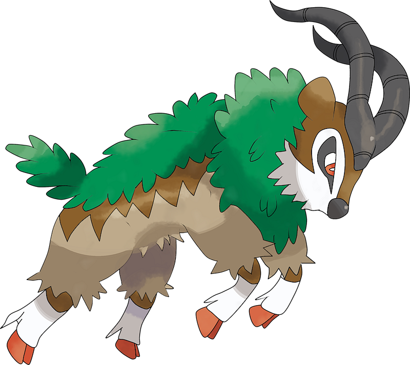 Shiny Gogoat Pok 233 Dex Stats Moves Evolution Locations
