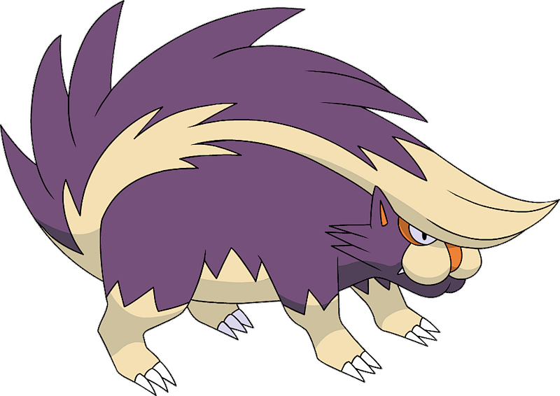 Pok 233 Mon 435 Skuntank Rare Artwork