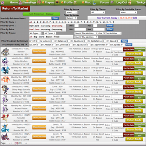 Sell, Trade Pokémon - Market