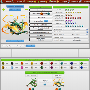 Pokémon Features Page - Pokédex