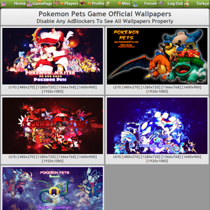 Pokemon Wallpapers - PokemonPets Game Wallpapers