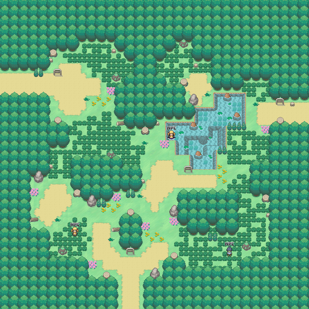 Cr Forest: Game Map of Pokemon Pets, Route Id 16, Zone Normal on