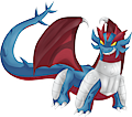 Monster Mega-Salamence-Blue