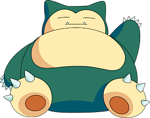 Snorlax is one of the easiest pokemon to draw