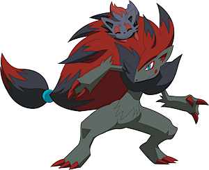 Shiny Zoroark Pok 233 Dex Stats Moves Evolution Locations