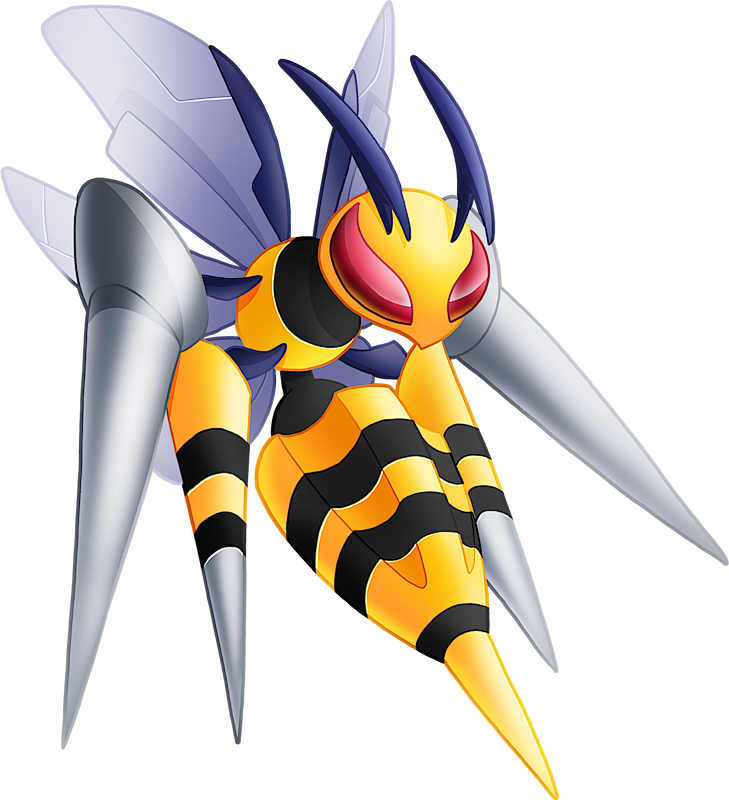 Pokemon 10015 Shiny Mega Beedrill Pokedex: Evolution, Moves, Location, Stats