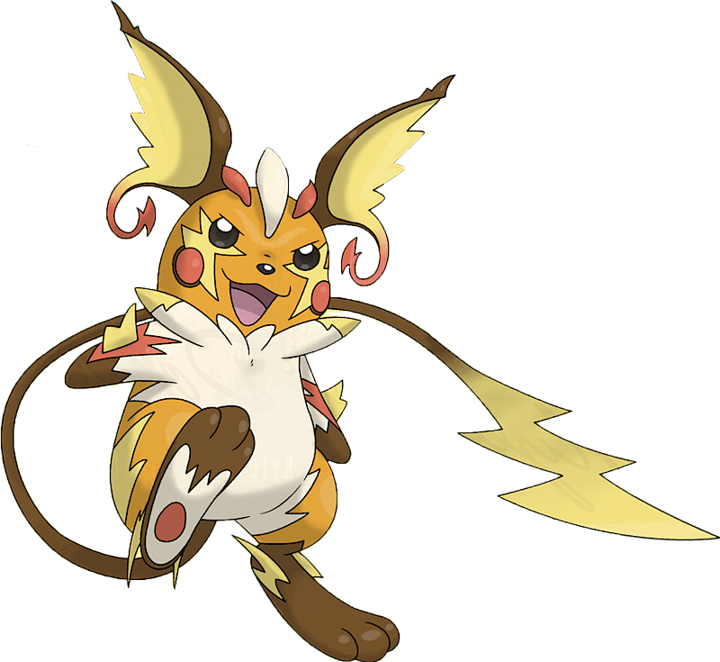 Shiny Mega Raichu Pok 233 Dex Stats Moves Evolution