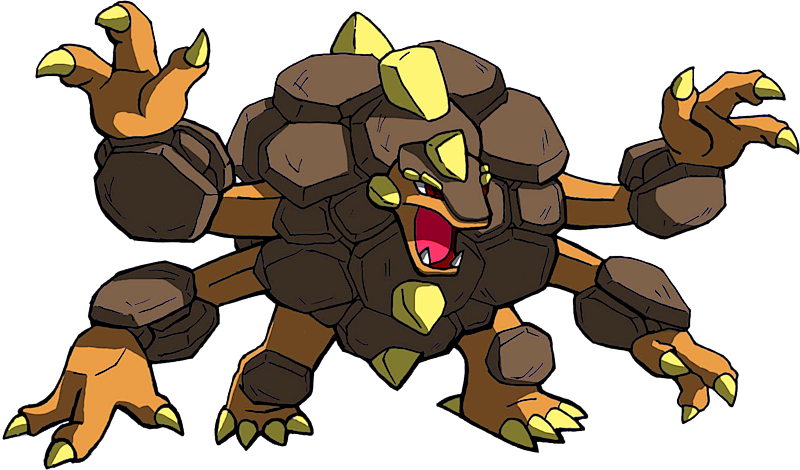 Pokémon #10076 Shiny-Mega-Golem Mega-S Artwork